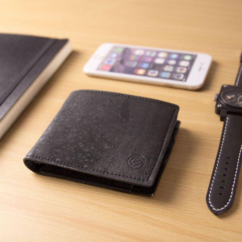 Corkor Vegan Cork Men's Bifold Wallet with Coin Pocket