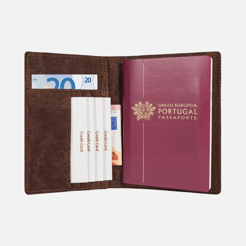 Corkor Vegan Cork Passport Wallet