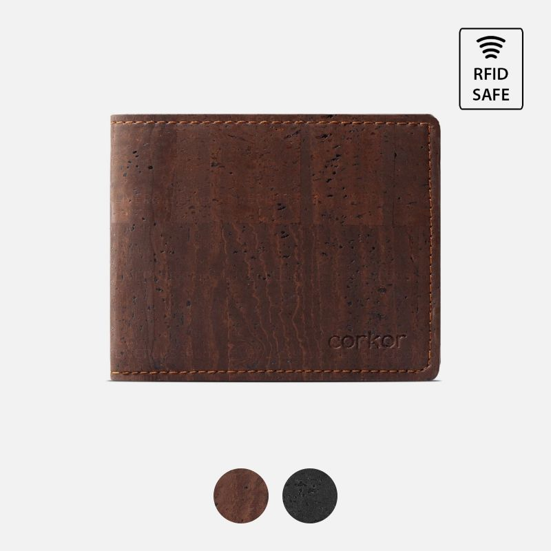 Corkor Vegan Cork Bifold Wallet for Men