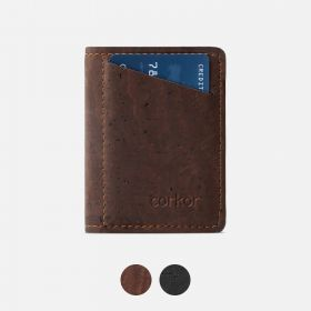 Corkor Vegan Cork Slim Wallet with Coin Pocket