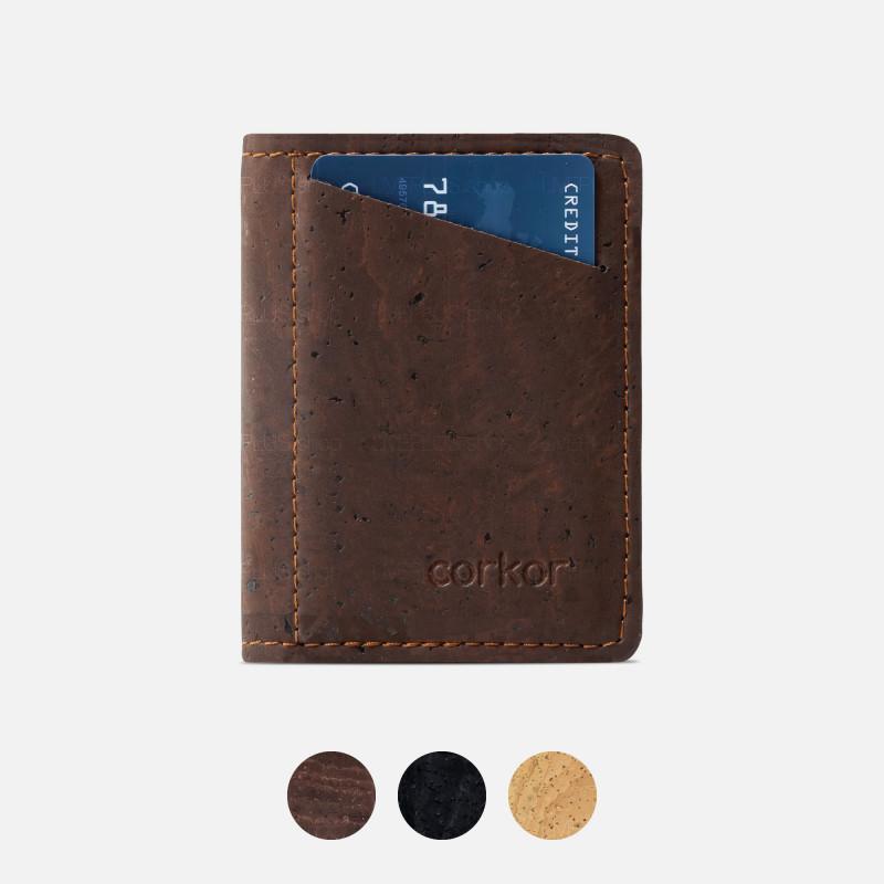 Corkor Vegan Cork Slim Wallet with Coin Pocket