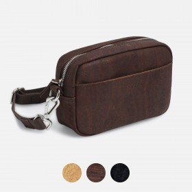 Corkor Vegan Cork Crossbody Pouch, Horizontal