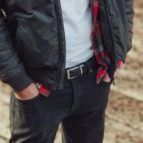 Corkor Vegan Cork Men's Reversible Belt, 3 cm Wide