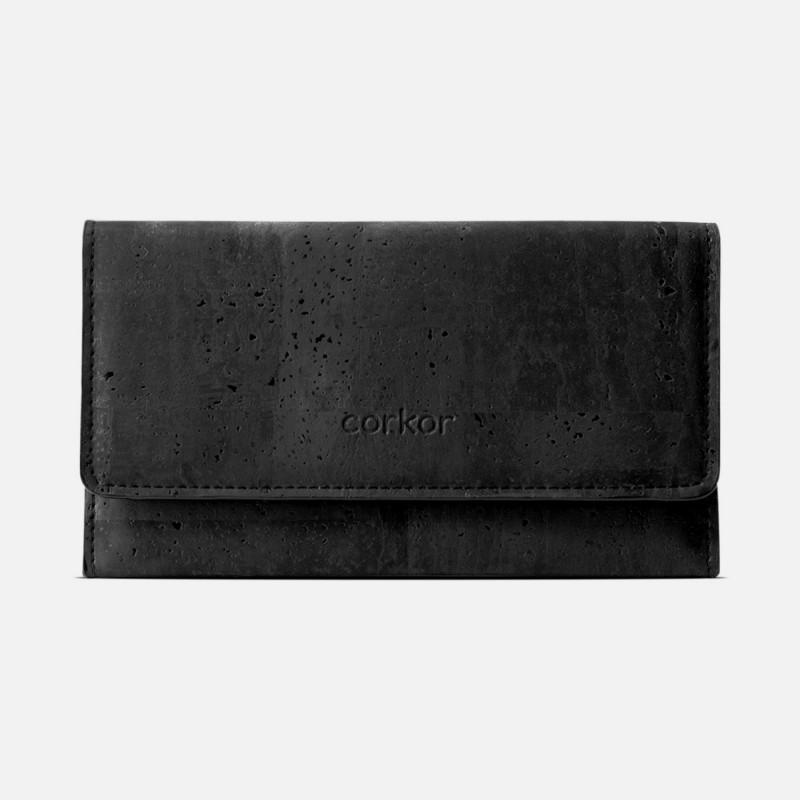 Corkor Vegan Cork Women's Slim Wallet With Flap