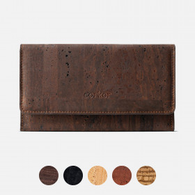 Corkor Vegan Cork Women's Slim Wallet With Flap