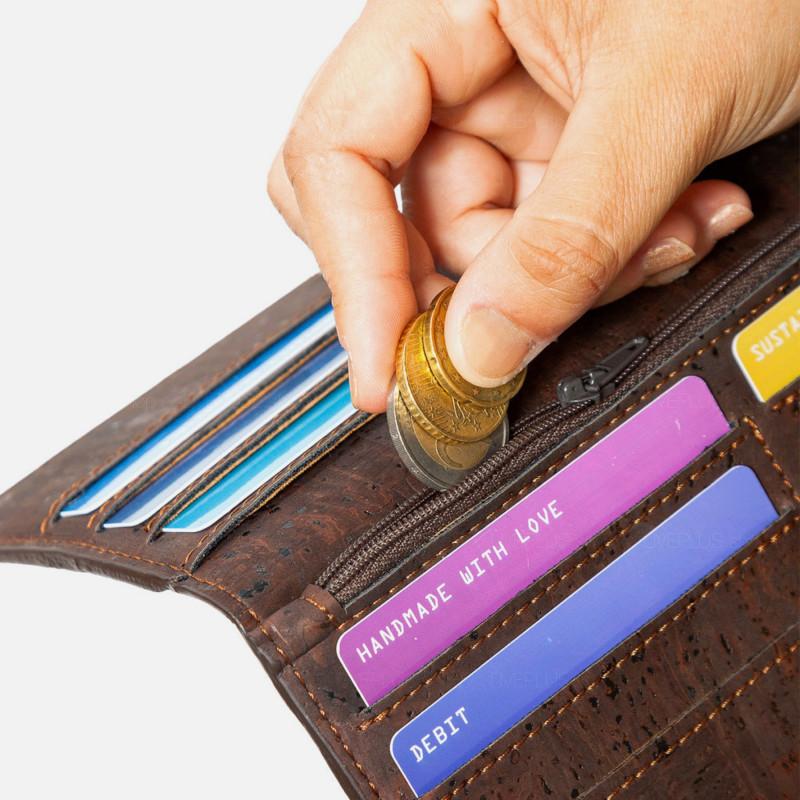 Corkor Vegan Cork Slim Bifold Women's Wallet