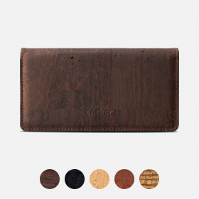 Corkor Vegan Cork Slim Bifold Women's Wallet