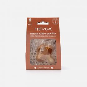 Hevea Crown Round Natural Rubber Pacifier, 0-3 Months
