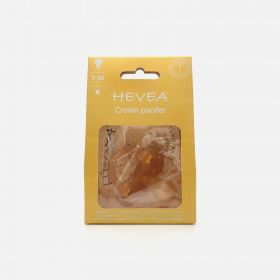 Hevea Crown Round Natural Rubber Pacifier, 3-36 Months