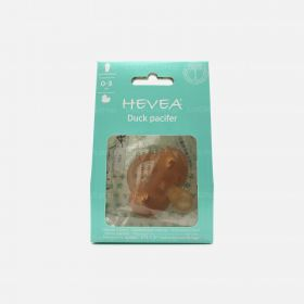 Hevea Duck Symmetrical Natural Rubber Pacifier, 0-3 Months