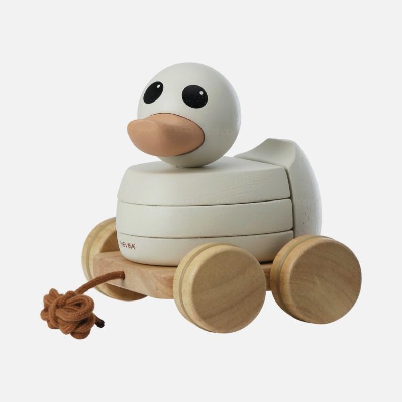Hevea Kawan Rubberwood Stacker & Pull Toy