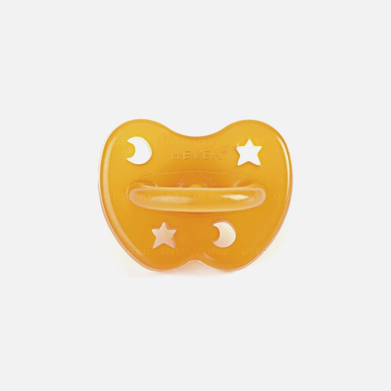 Hevea Star & Moon Orthodontic Natural Rubber Pacifier, 0-3 Months