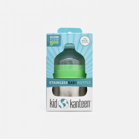 Klean Kanteen Kid Kanteen Stainless Baby Bottle 5oz (0-6+ Months, Slow Flow)