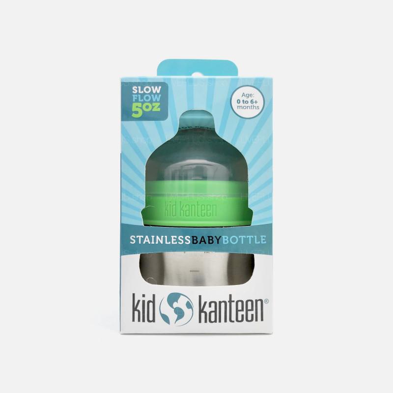 Klean Kanteen Kid Kanteen Stainless Baby Bottle 5oz (0-6+ Months, Slow Flow)