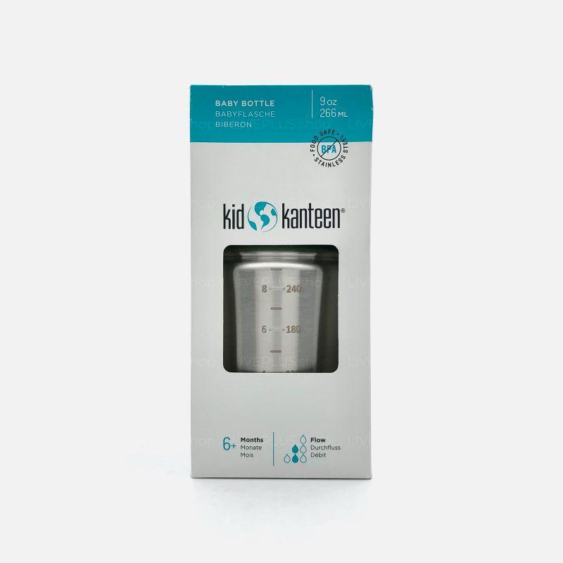 Klean Kanteen Kid Kanteen Stainless Baby Bottle 9oz (6+ Months, Medium Flow)