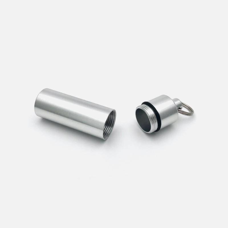 Mini Aluminium Container with Keychain