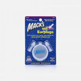 Mack's AquaBlock Earplugs, 1 Pair, Clear