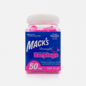 Mack's Dreamgirl Soft Foam Earplugs, 50 Pair