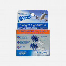 Mack's Flightguard Airplane Pressure Relief Earplugs