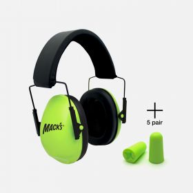 Mack's Hi Viz* Shooters Double-Up Ultimate Hearing Protection System (Earmuffs + Earplugs)