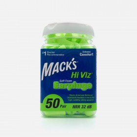 Mack's Hi Viz* Soft Foam Earplugs, 50 Pair