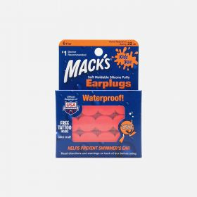 Mack's Kids Size Soft Moldable Silicone Putty Earplugs, 6 Pair
