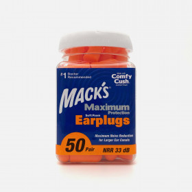 Mack's Maximum Protection Soft Foam Earplugs, 50 Pair