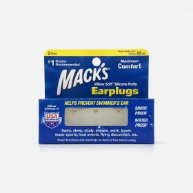Mack's Pillow Soft Silicone Putty Earplugs, 2 Pair, White