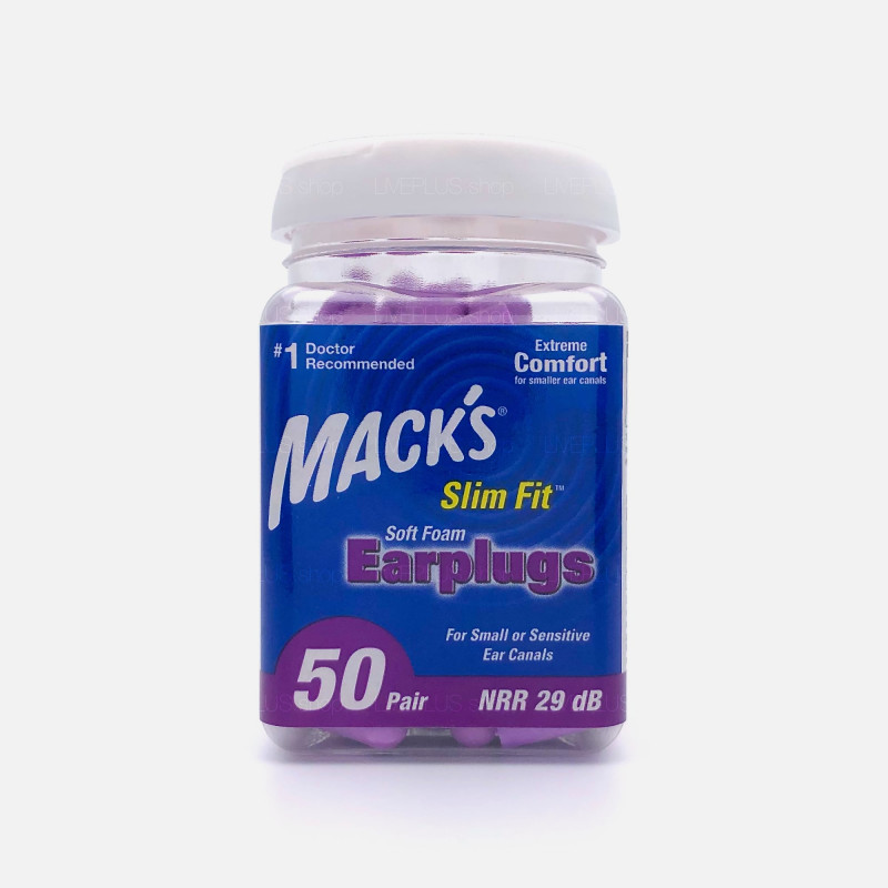 Mack's Slim Fit Soft Foam Earplugs, 50 Pair