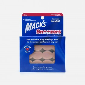 Mack's Snoozers Silicone Putty Earplugs, 6 Pair
