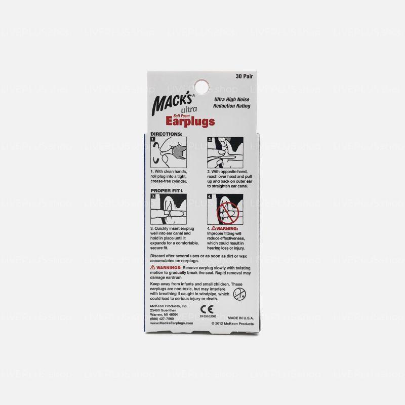 Mack's Ultra Soft Foam Earplugs, 30 Pair
