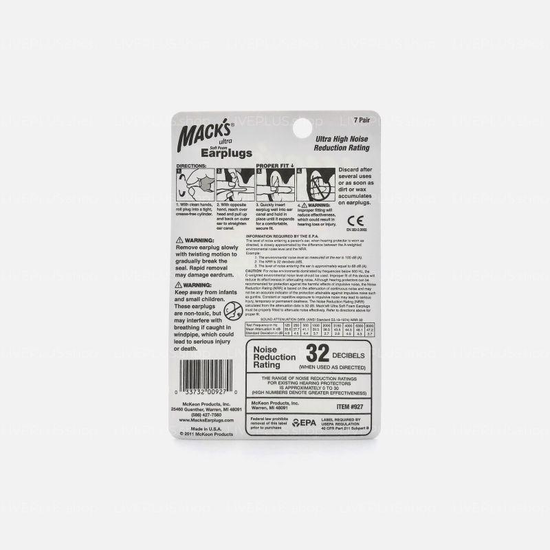 Mack's Ultra Soft Foam Earplugs, 7 Pair