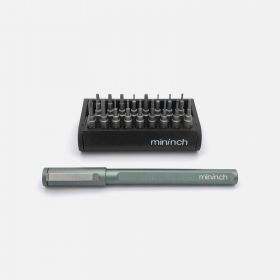Mininch Tool Pen Mini Aplus Edition, 22 Bits, Gunmetal
