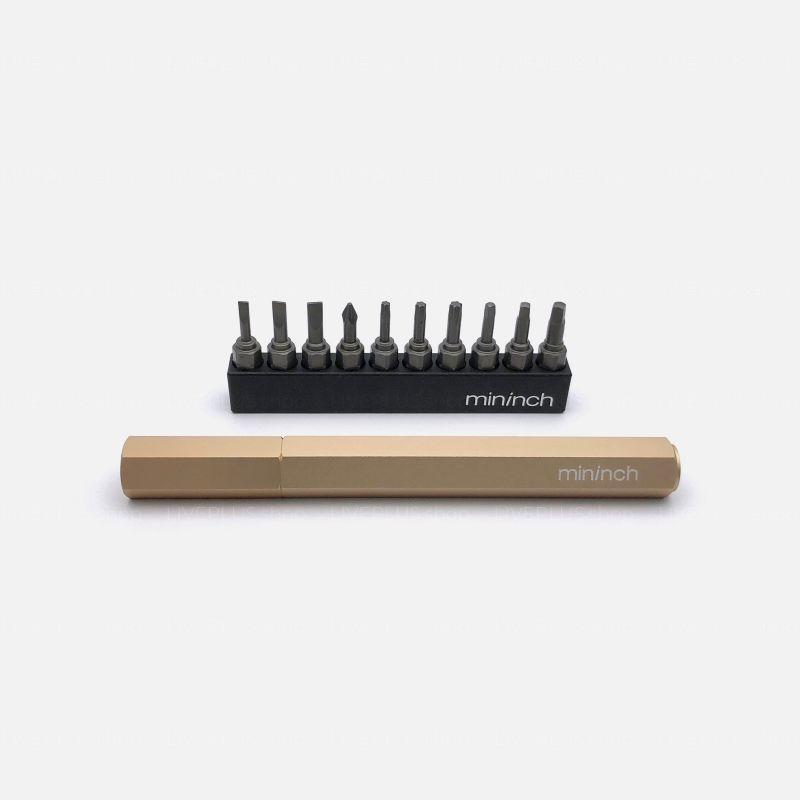 Mininch Tool Pen Premium Edition, Metric, 16 Bits, Champagne Gold