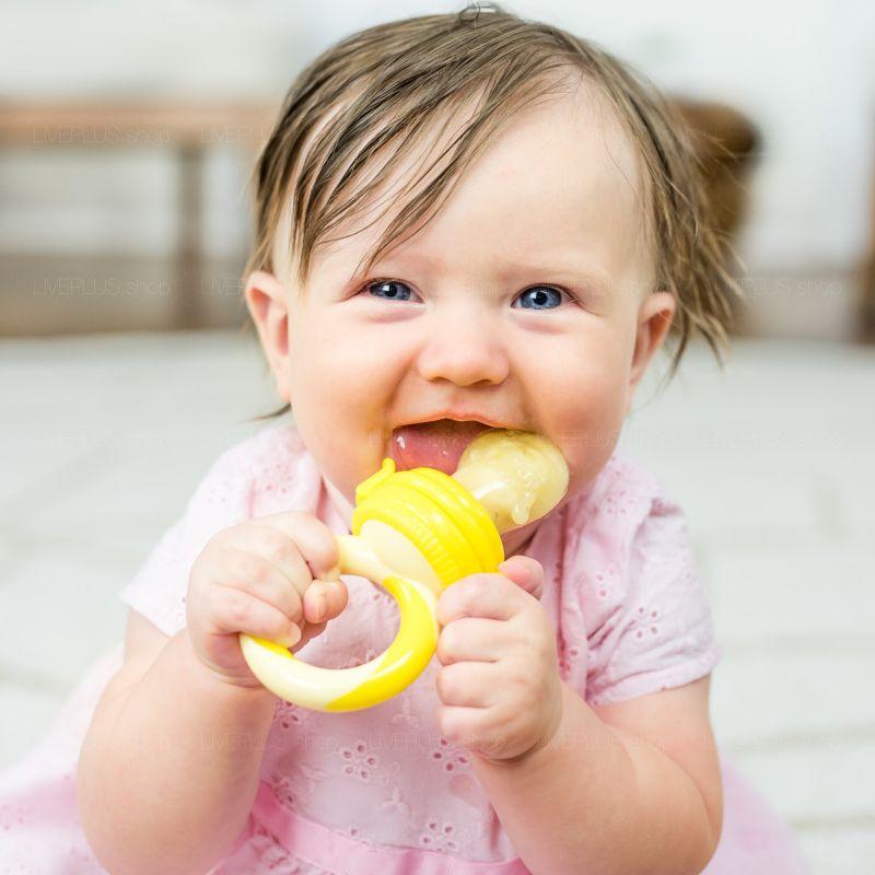 NatureBond Baby Fruit Feeder, Sunshine Orange & Lemonade Yellow