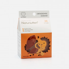 Natursutten Butterfly Orthodontic Natural Pacifier, M (6-12 Months)