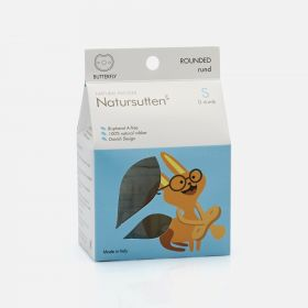 Natursutten Butterfly Rounded Natural Pacifier, S (0-6 Months)