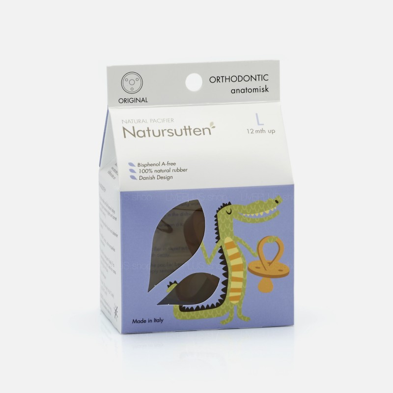 Natursutten Original Orthodontic Natural Pacifier, L (12 Months Up)
