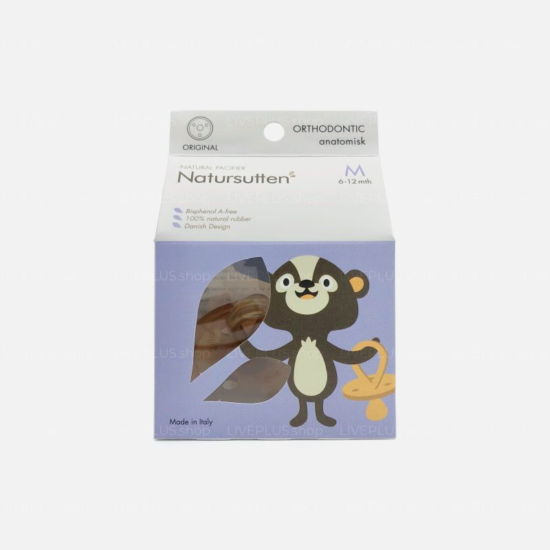Natursutten Original Orthodontic Natural Pacifier, M (6-12 Months)