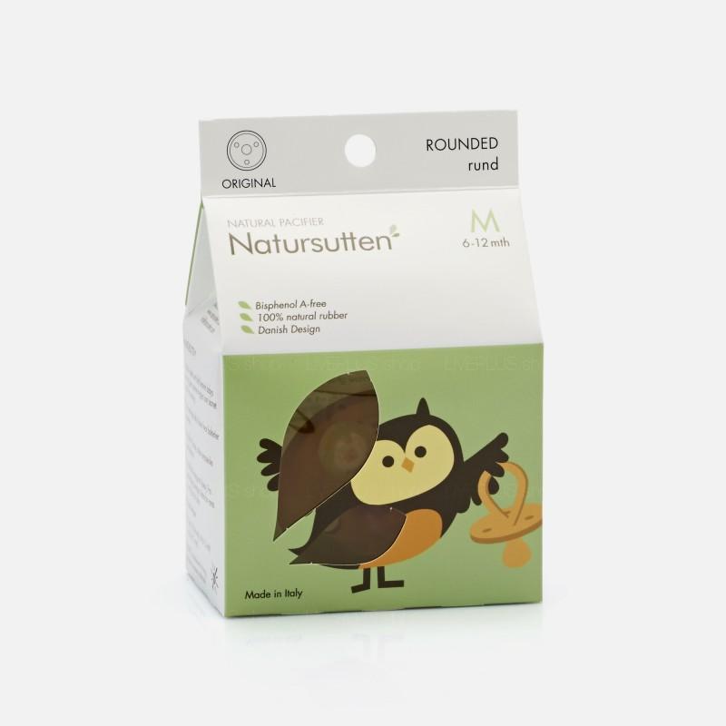 Natursutten Original Rounded Natural Pacifier, M (6-12 Months)