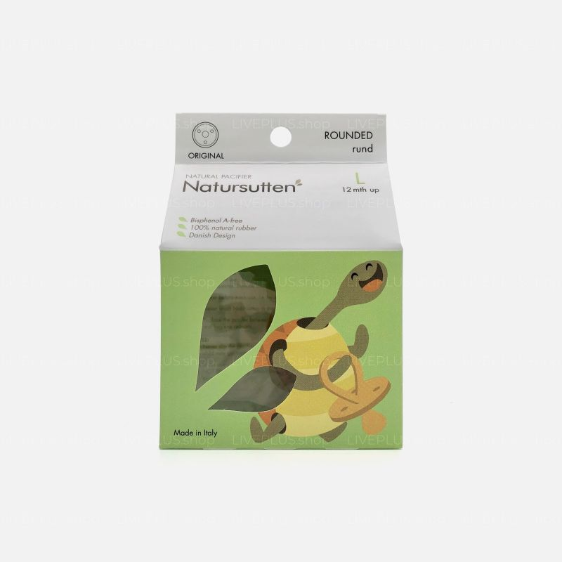 Natursutten Original Rounded Natural Pacifier, L (12 Months Up)