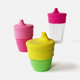 SipSnap TOT Universal Silicone Sippy Lid, Rise n Shine