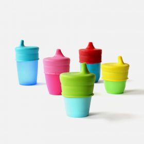 SipSnap TOT Universal Silicone Sippy Lid, Blue Quench